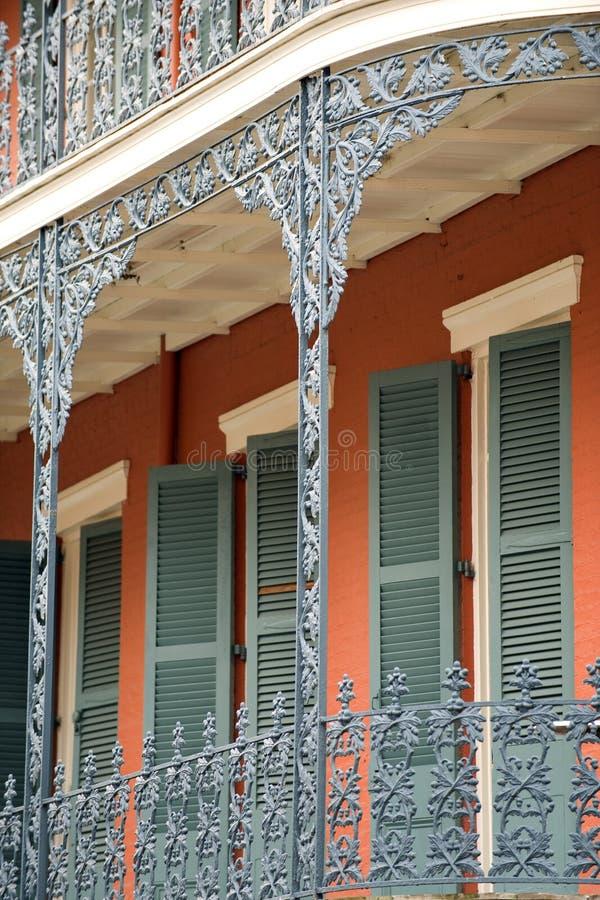 byggande historiska New Orleans arkivbild