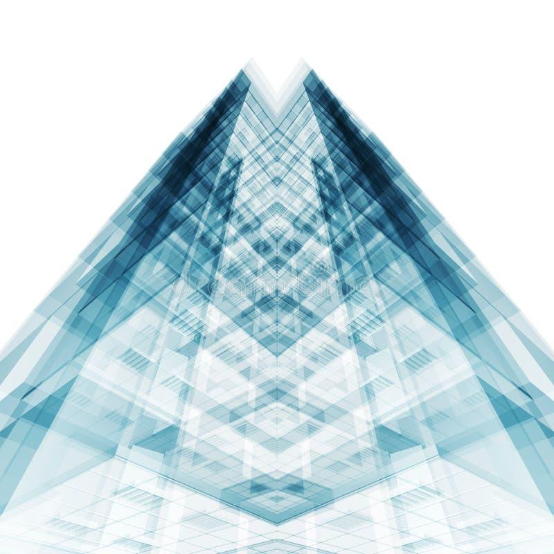 byggande modernt kontor framf?rande 3d vektor illustrationer