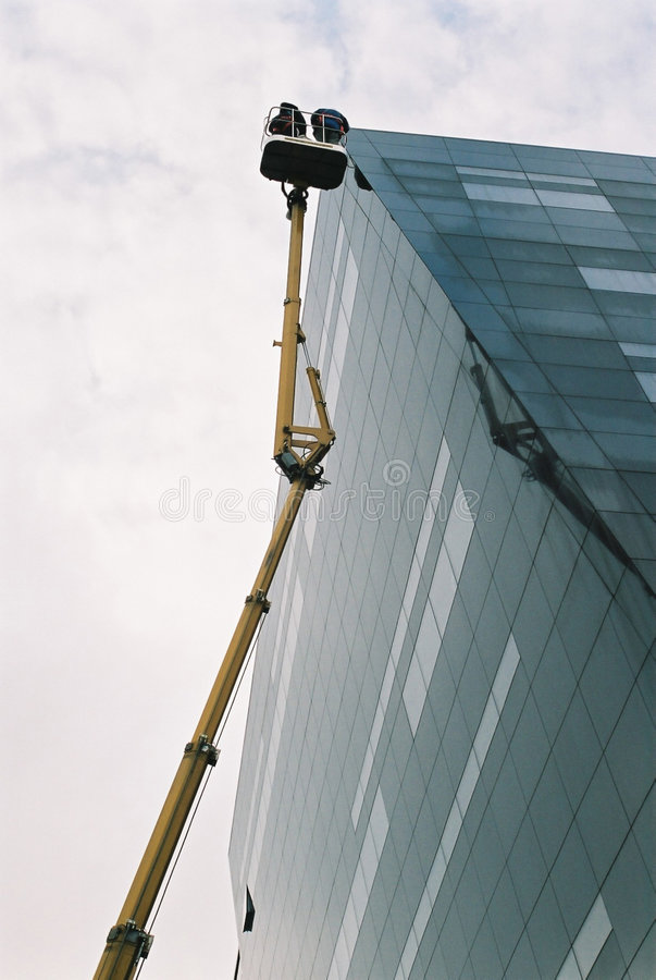 Byggande Ytterelevator Royaltyfri Foto