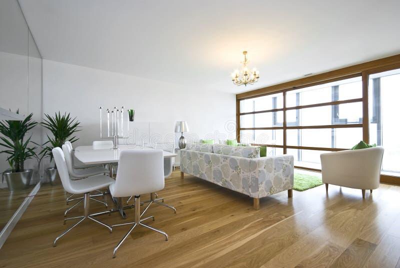 byggd strömförande lyxig ny penthouselokal royaltyfri bild