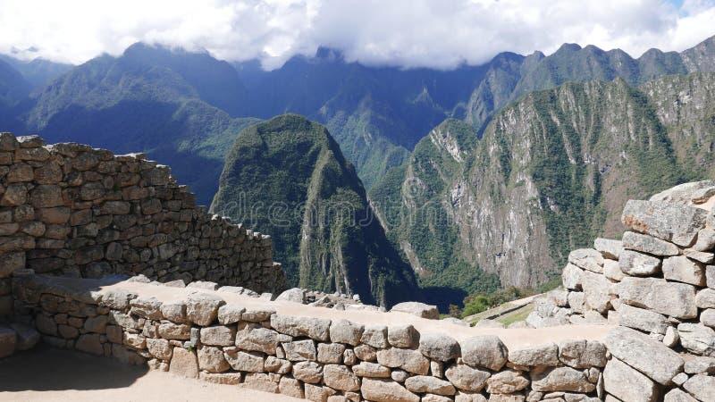 Byggd struktur i Machu Picchu, Peru arkivbilder
