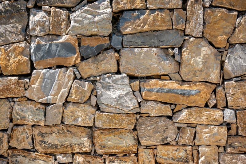 Byggd vägg för sten kvarter arkivfoto