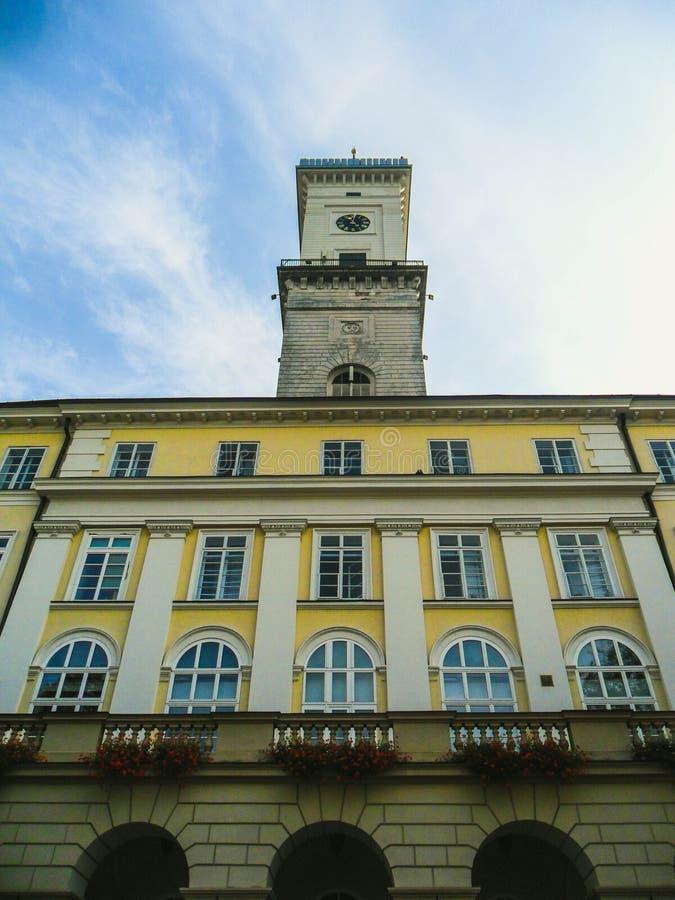 1990 byggde den lviv operatheatren ukraine royaltyfria bilder