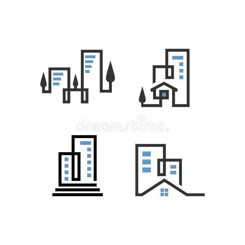 Bygglogotypinspiration för ditt varumärke arkivbild