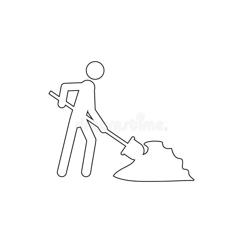 byggmästare med skyffelsymbolen Beståndsdel av cybersäkerhet för mobilt begrepp och rengöringsdukappssymbol Tunn linje symbol för vektor illustrationer