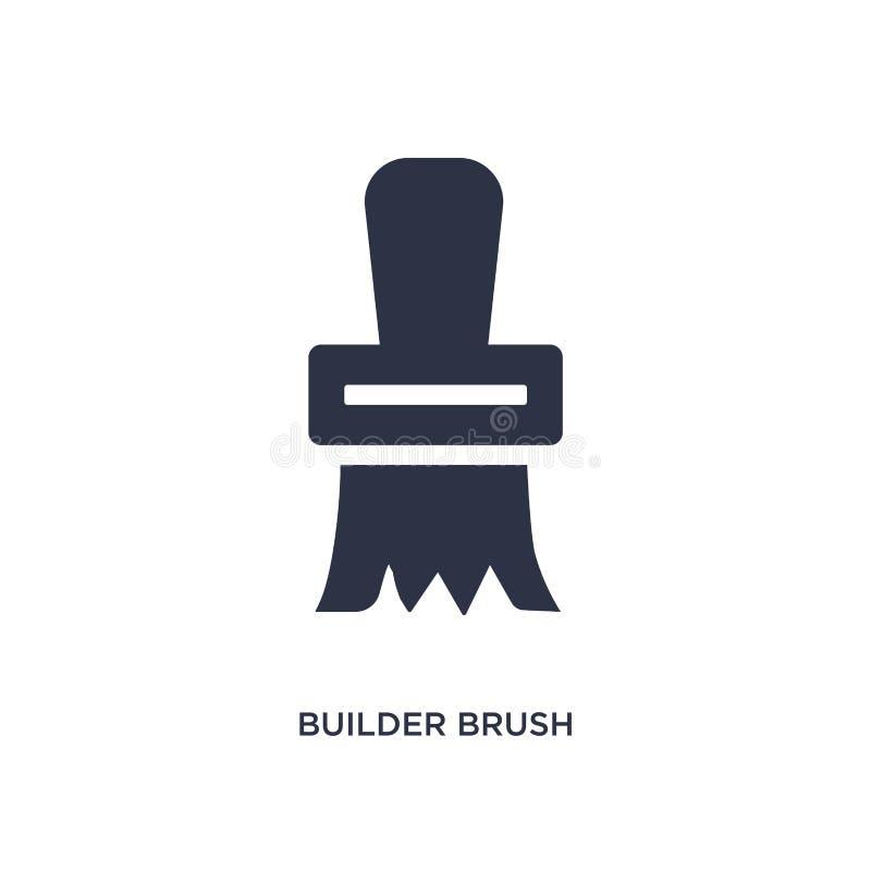 byggmästareborstesymbol på vit bakgrund Enkel beståndsdelillustration från konstruktionsbegrepp vektor illustrationer