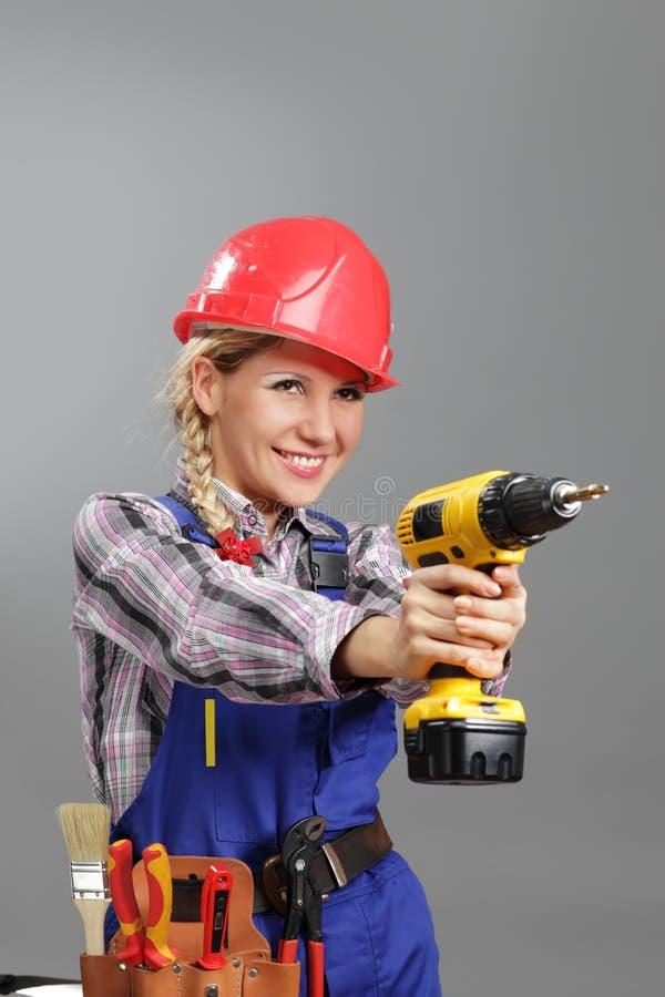 byggmästarekvinna fotografering för bildbyråer