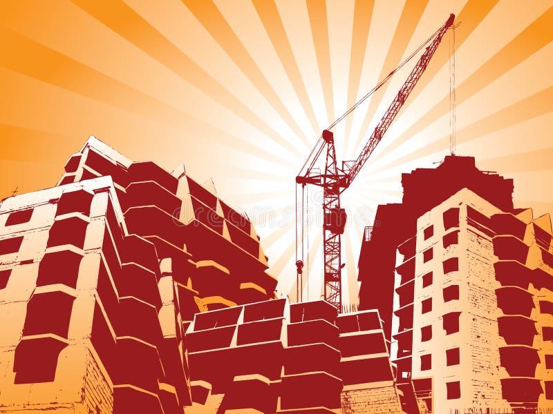 byggnad stock illustrationer