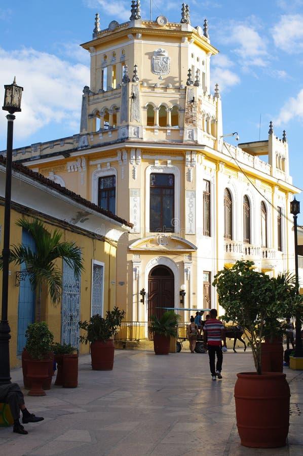 Byggnad av den kubanska fonden av kulturella tillgångar royaltyfri fotografi