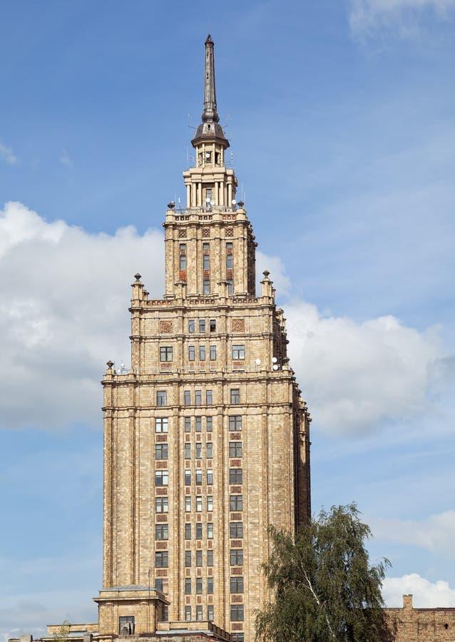 Byggnad av den Lettland akademin av vetenskaper royaltyfri bild