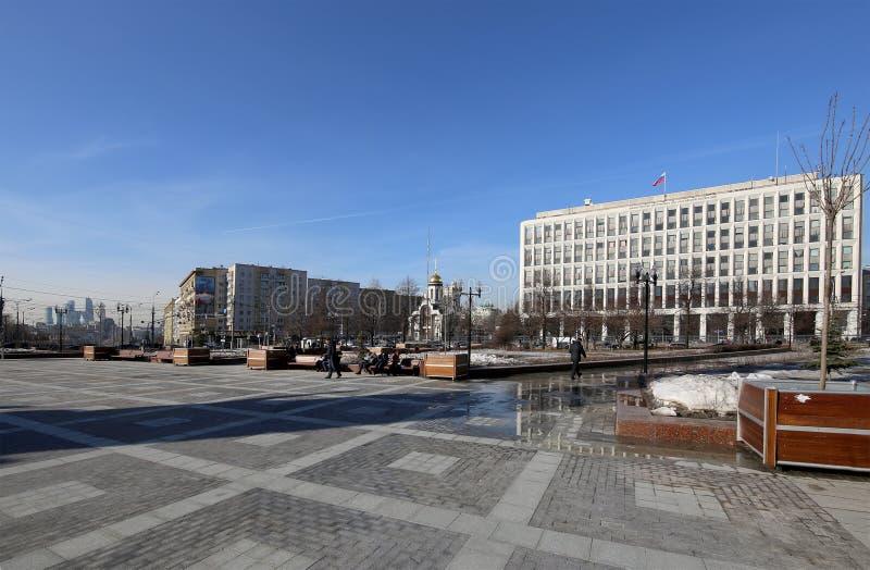 byggnad av departementet av från den ryska federationen inrikes affärer Zhitnaya St 16, Moskva, Ryssland royaltyfria bilder