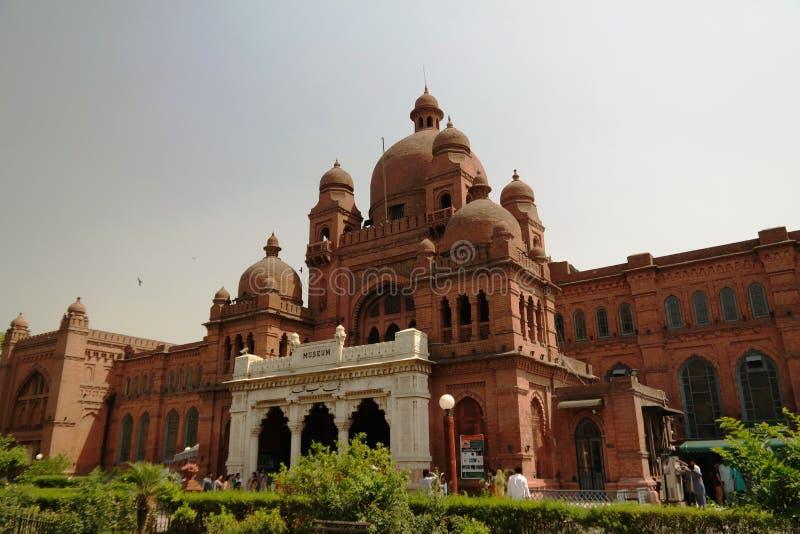 Byggnad av det Lahore museet, Punjab Pakistan royaltyfri bild