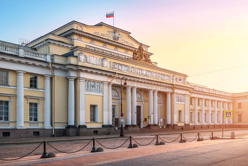 Byggnad av det ryska Ethnographic museet fotografering för bildbyråer