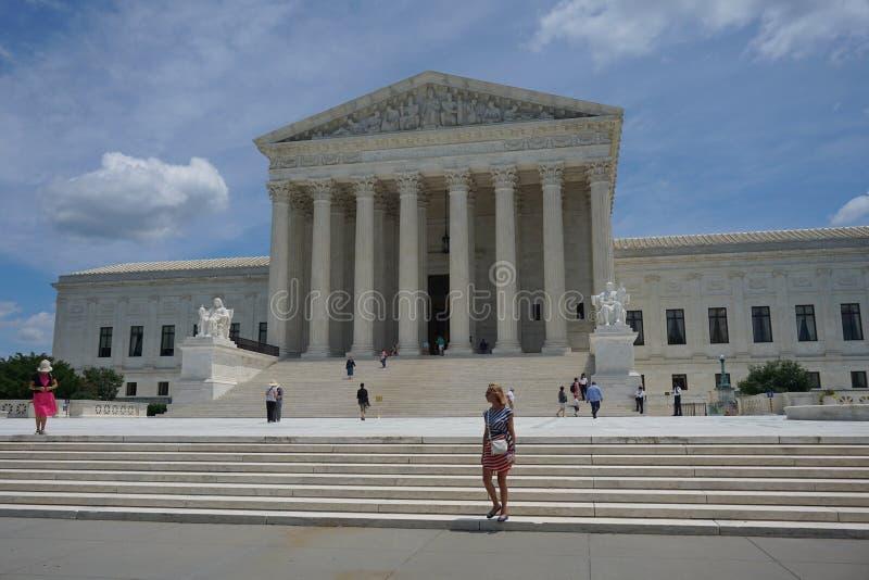 Byggnad av högsta domstolen av Förenta staterna arkivfoto