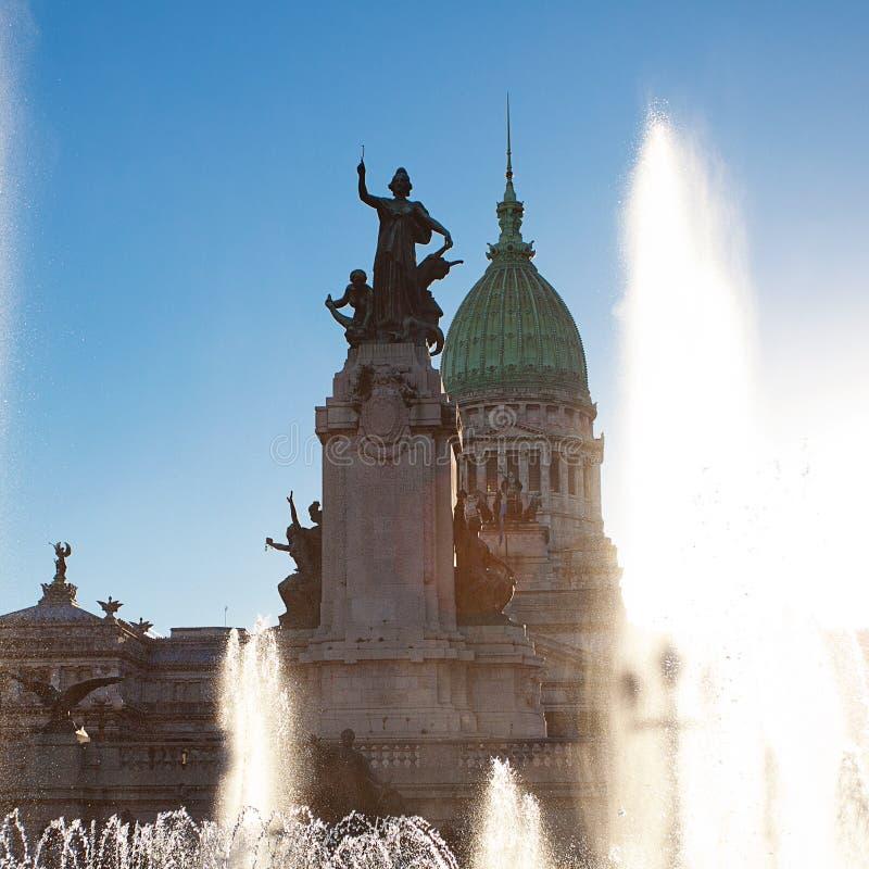 Byggnad av kongressen i Buenos Aires, Argentina royaltyfria bilder
