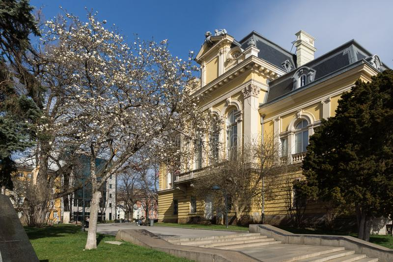 Byggnad av medborgaren Art Gallery Royal Palace, Sofia, Bulgarien arkivbilder