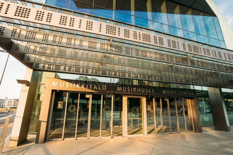 Byggnad av mitten för musik för musikkorridor i Helsingfors royaltyfri bild