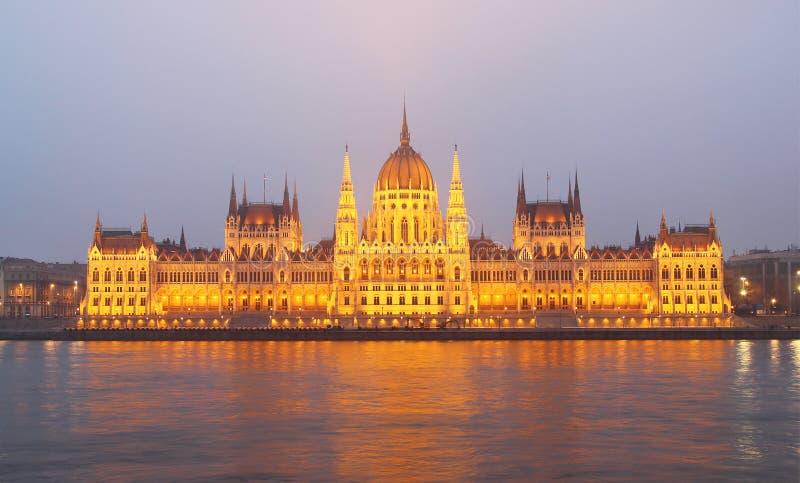 Byggnad av parlamentet, Budapest, Ungern royaltyfri foto