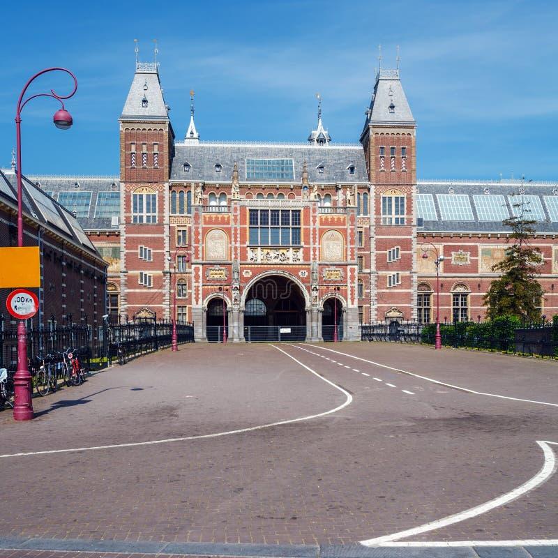 Byggnad av Rijksmuseum, holländsk medborgare Art Museum, Amsterdam, N royaltyfria bilder