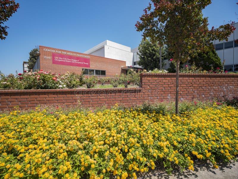 Byggnad av universitetet av sydliga Kalifornien vård- vetenskaper Ca royaltyfri foto