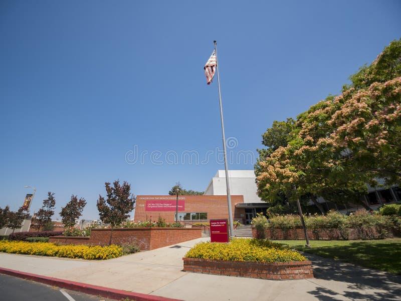 Byggnad av universitetet av sydliga Kalifornien vård- vetenskaper Ca arkivbild