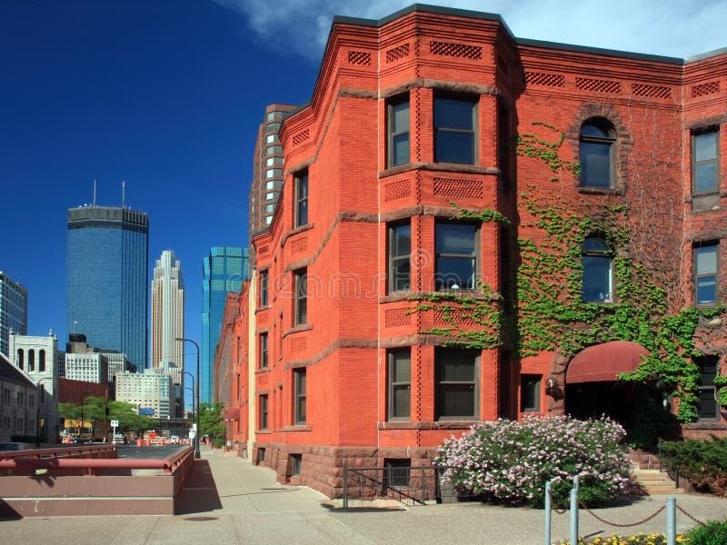 byggnad bostadsi stadens centrum minneapolis arkivfoto