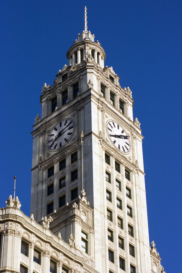 byggnad chicago wrigley royaltyfria foton