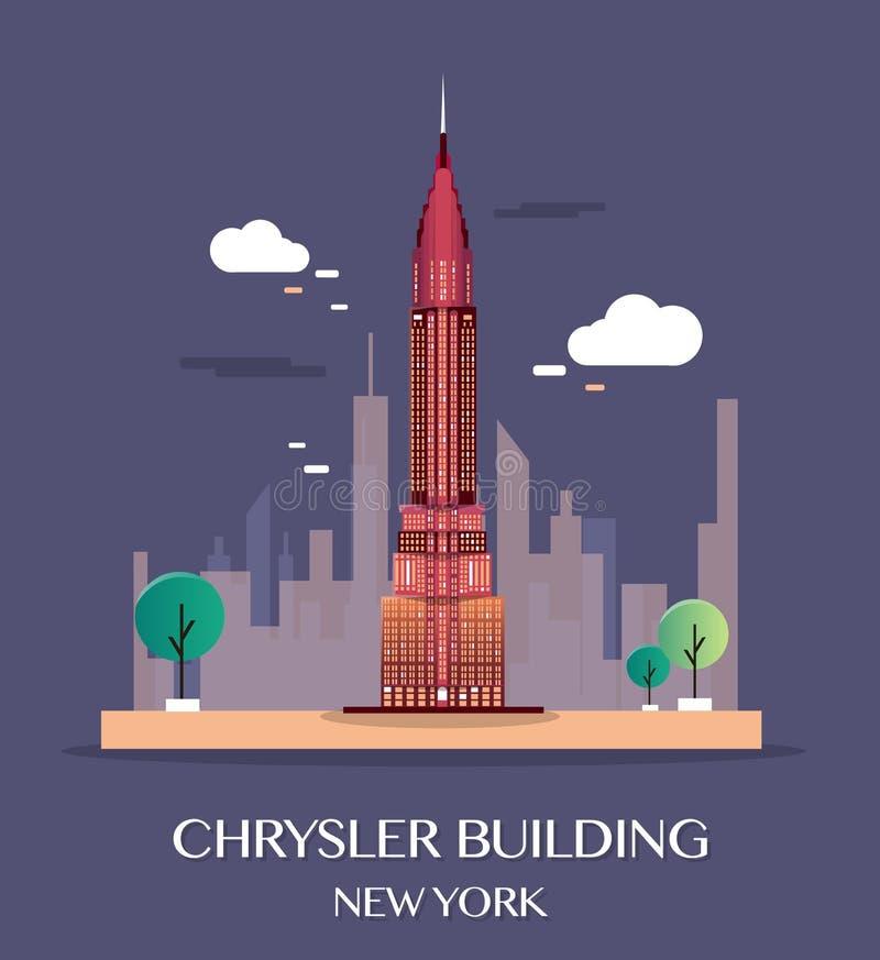 byggnad chrysler New York också vektor för coreldrawillustration stock illustrationer