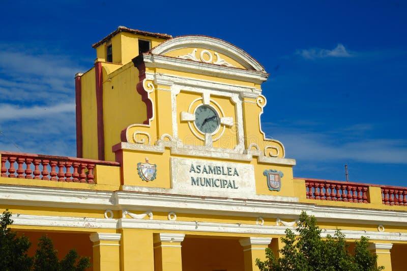 byggnad cuba typiska trinidad royaltyfri bild