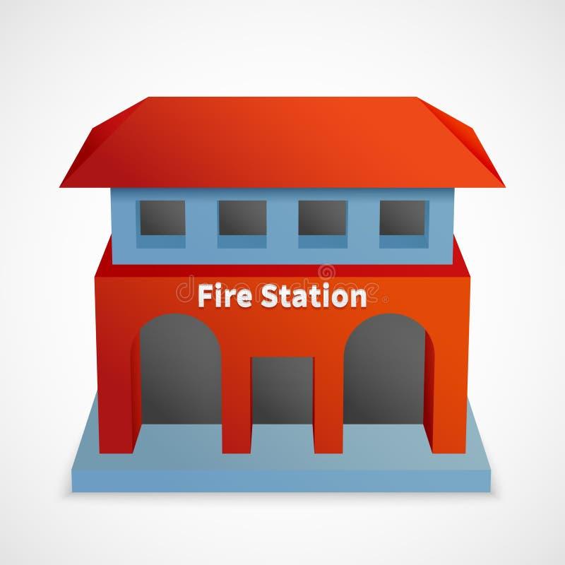 Byggnad för brandstation vektor illustrationer