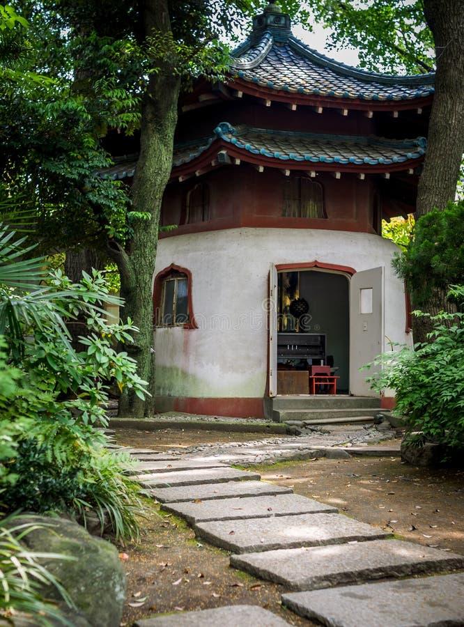 Byggnad för buddistisk tempel, Tokyo royaltyfri foto