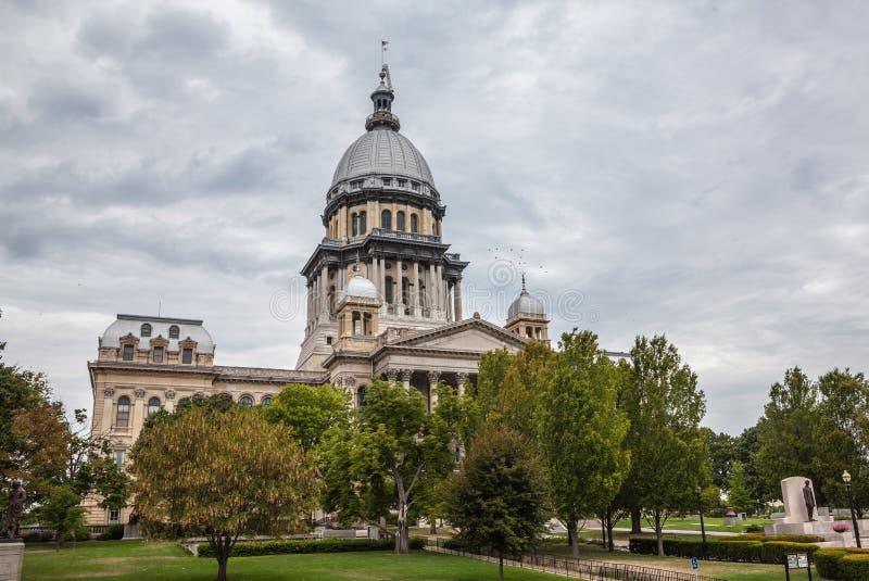 Byggnad För För Illinois Tillståndshus Och Capitol Arkivfoto