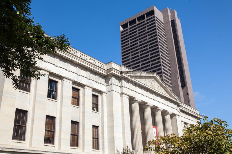 Byggnad för för Ohio tillståndshus & Capitol arkivfoton