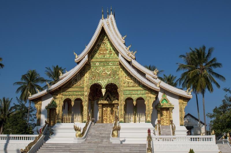 Byggnad för hagtornPha smäll, Luang Prabang, Laos arkivfoto