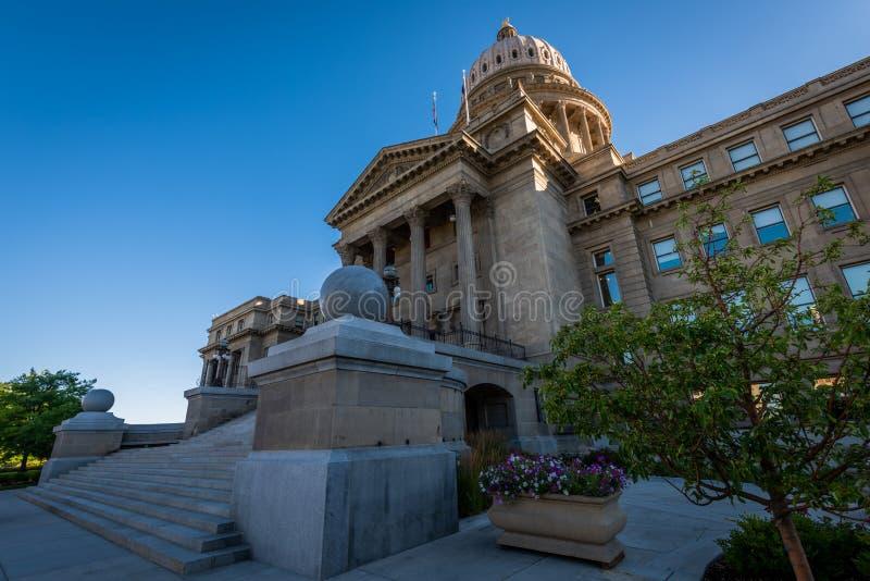 Byggnad för Idaho statKapitolium i Boise, legitimation royaltyfri bild