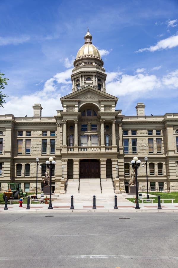 Byggnad för Wyoming statKapitolium arkivbild