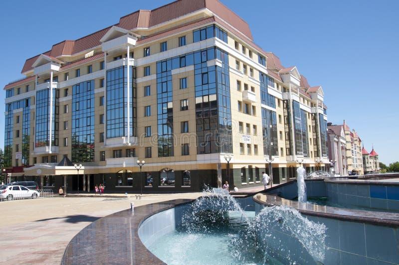 Byggnad i mitten av Stavropol royaltyfri bild