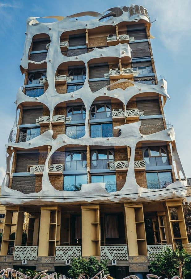 Byggnad i Tel Aviv arkivbilder