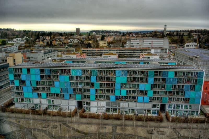Byggnad i Zurich HDR royaltyfri bild