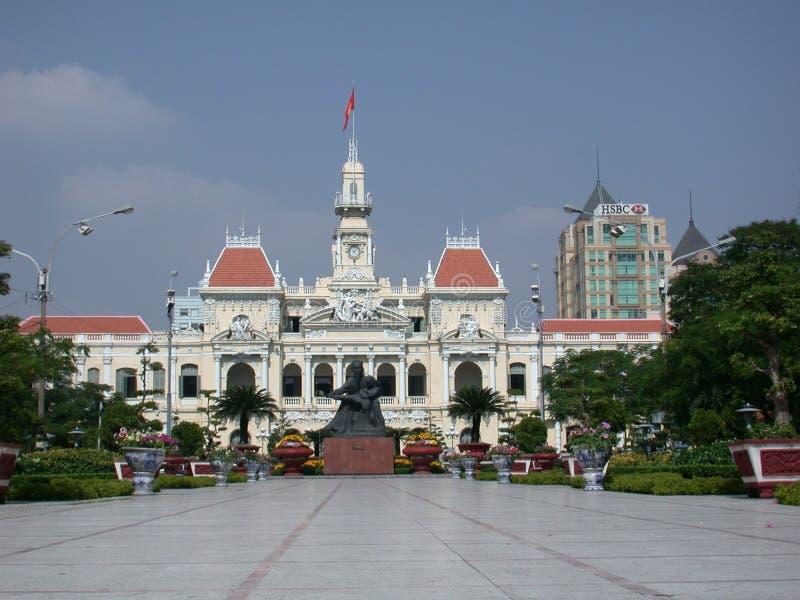 byggnad koloniala franska vietnam arkivbild