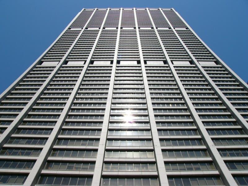 byggnad konkava chicago arkivbild