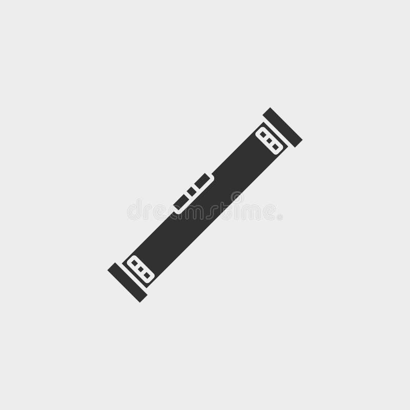 Byggnad konstruktion, bransch, nivå, symbol, plan illustration isolerat vektorteckensymbol - vektor för konstruktionshjälpmedelsy stock illustrationer
