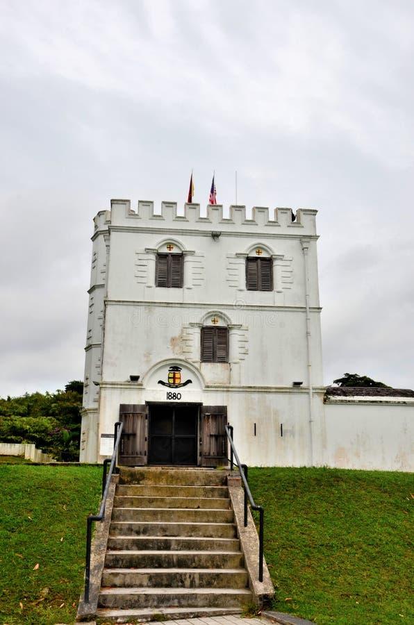 Byggnad Kuching Sarawak Malaysia för arv för fortMargherita Brooke Gallery museum royaltyfria foton