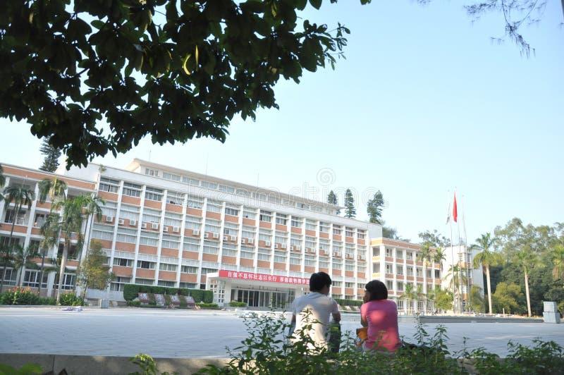 Byggnad och student royaltyfria bilder