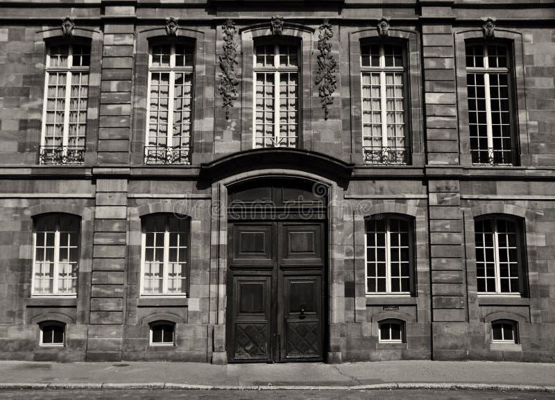 byggnad strasbourg royaltyfri bild
