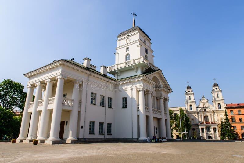 Byggnaden av den hal Minsk staden royaltyfri fotografi