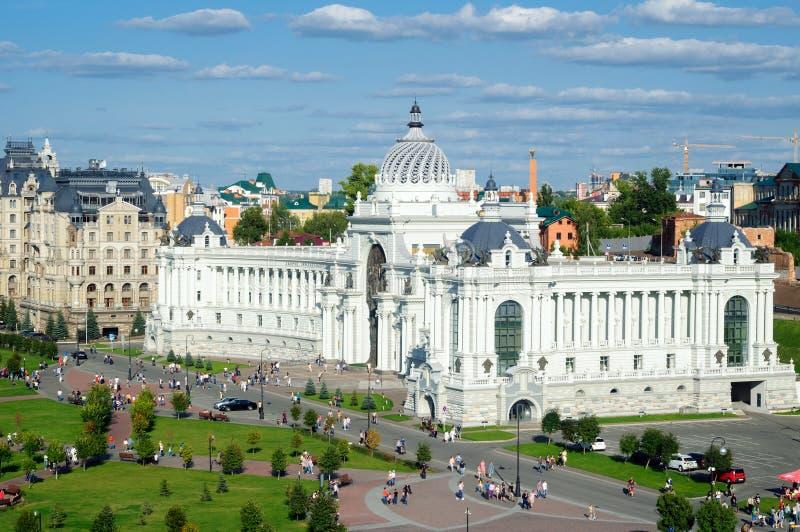Byggnaden av Jordbruksdepartementet och maten, slott av bönder i Kazan royaltyfri bild