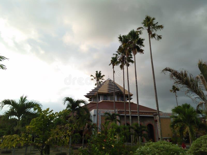 Byggnaden som används för dyrkan fotografering för bildbyråer