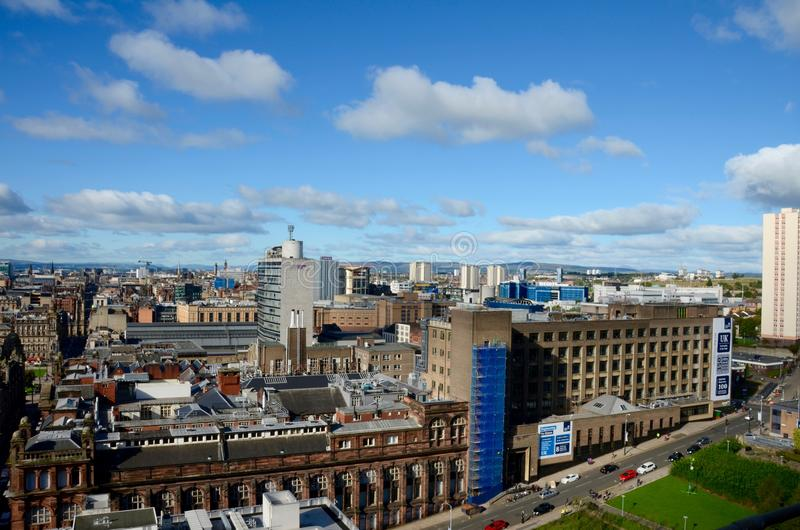 Byggnader av Glasgow royaltyfri foto