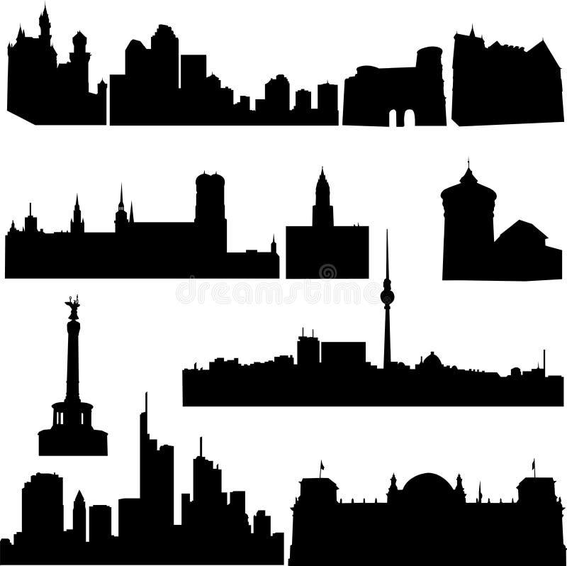 byggnader berömda germany s stock illustrationer